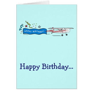 Happy Birthday Airplane Whole Gang Customizable Card