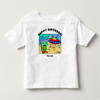 Happy Birthday Alien Space YOUR NAME & AGE T-Shirt