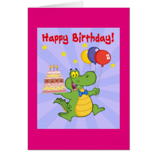 Happy Birthday Aligator Card