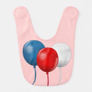 Happy Birthday America (Balloons) Baby Bibs