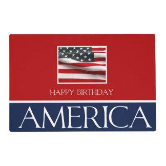 Happy Birthday America! Laminated Placemat