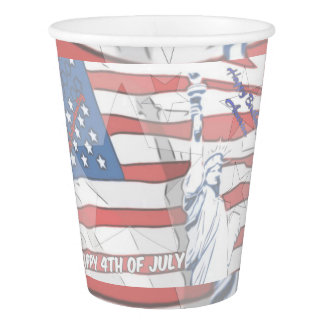 Happy Birthday America Paper Cup