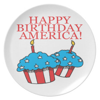 Happy Birthday America Plate