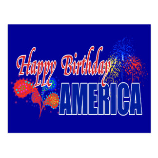 Happy Birthday America Postcards
