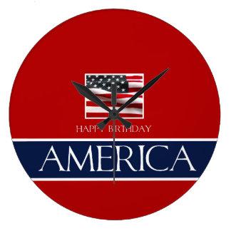 Happy Birthday America! Wall Clock