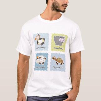 Happy Birthday Animals Mens T-Shirt