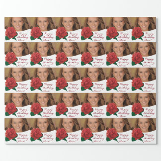Happy Birthday anyone text photo Wrapping Paper