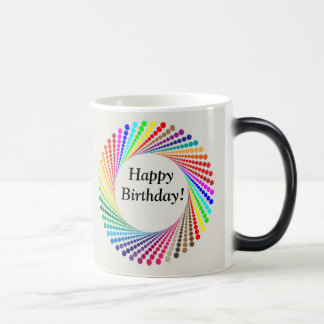 Happy Birthday Appears Like Magic NAME Coffee Cup