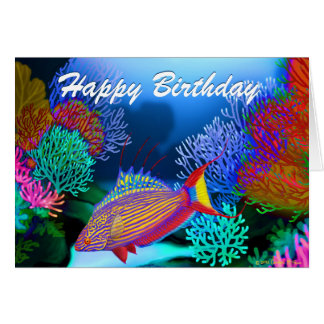 Happy Birthday Tropical Fish Gifts T Shirts Art