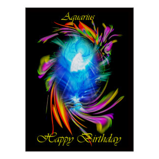 Happy Birthday Aquarius - Aquarius Poster