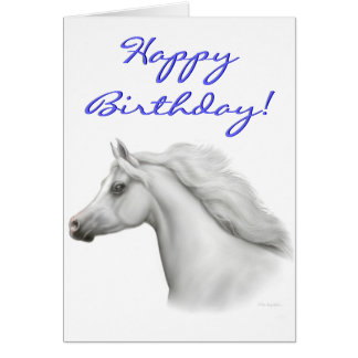 Happy Birthday Arabian Horse Card