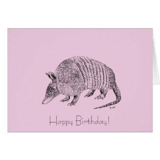 Happy Birthday Armadillo Art Card