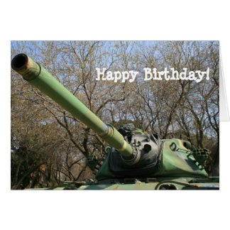 Happy Birthday Army Tank greeting card