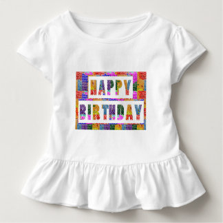 HAPPY BIRTHDAY : Artist Created Font n Color Toddler T-shirt