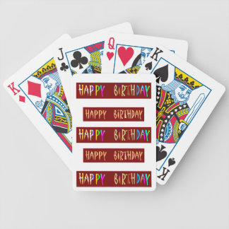 HAPPY BIRTHDAY Artistic Script Text Poker Deck