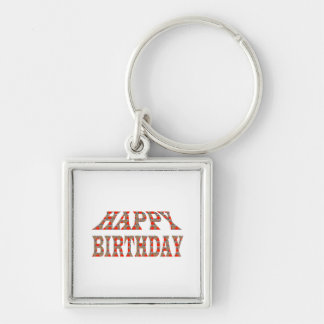 HAPPY BIRTHDAY Artistic Text Script TEMPLATE uniqu Keychains