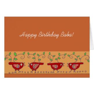 Happy Birthday Baba Ukrainian Birdies Card