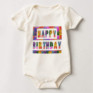 HAPPY BIRTHDAY : Baby American Organic Bodysuit