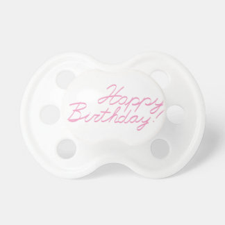 happy birthday baby pacifier