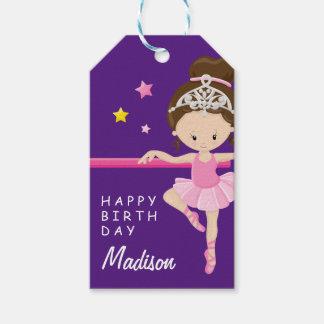 Happy Birthday Ballerina Gift Tags