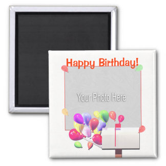 Happy Birthday Balloon Mail (photo frame) Magnet
