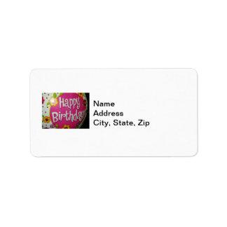 Happy Birthday Balloon w/ Flowers, Balloon Design