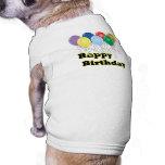 Happy Birthday Balloons D3 Dog Shirt