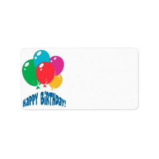 happy birthday balloons design