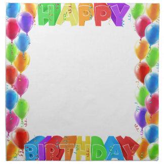 Happy Birthday Balloons Invite Border Frame Napkin
