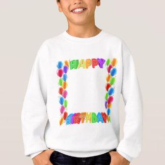 Happy Birthday Balloons Invite Border Frame Sweatshirt