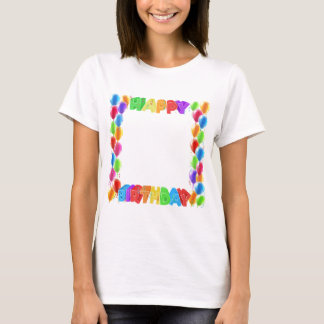 Happy Birthday Balloons Invite Border Frame T-Shirt