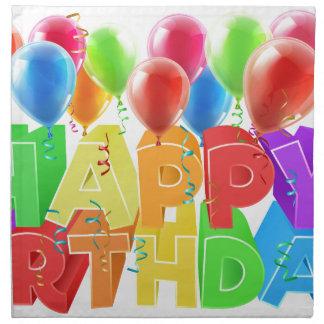 Happy Birthday Balloons Napkin