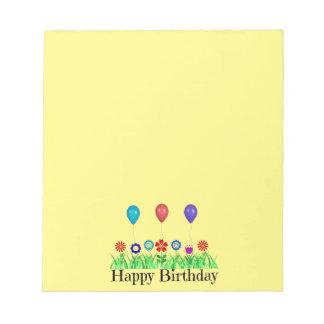 Happy Birthday, Balloons Notepad