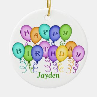 Happy Birthday Balloons Ornament