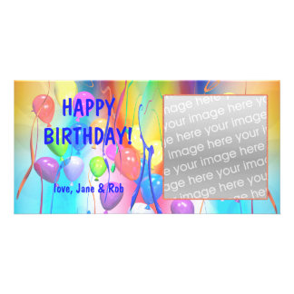 Happy Birthday Balloons Picture Card