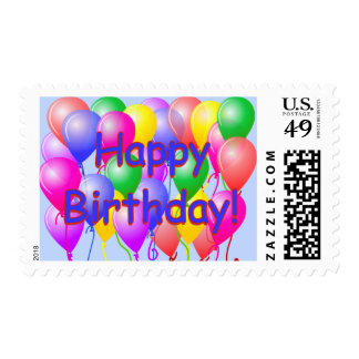 Happy Birthday Balloons Postage Stamps