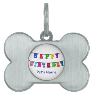 Happy Birthday Banner Pet Tag