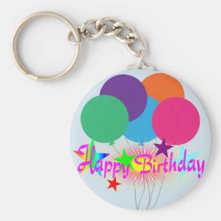 Happy Birthday! Basic Round Button Keychain
