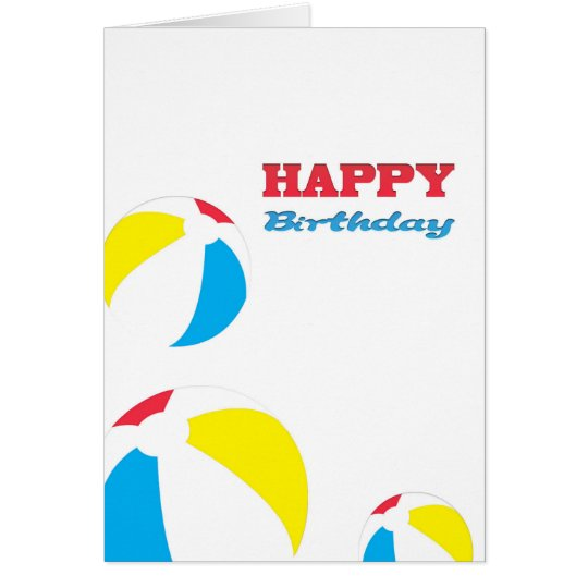 Happy Birthday beach balls Card