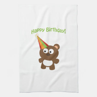 Happy Birthday! Bear Kitchen Towel