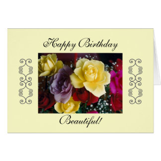 Happy Birthday Beautiful! Card