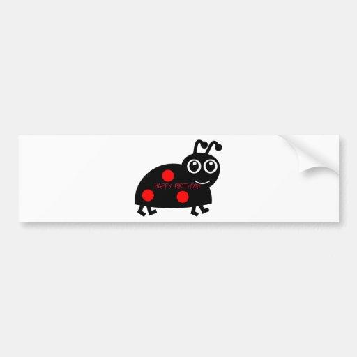 Happy Birthday Beetle Bumper Stickers