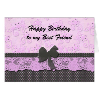 happy birthday best friend greeting card