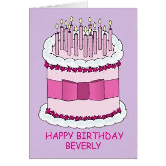 Happy Birthday Beverly Card