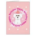 Happy Birthday Bichon Card