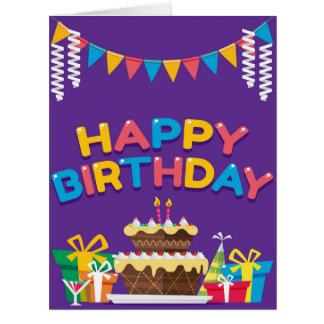 Happy Birthday BIG OVERSIZED Greeting Card
