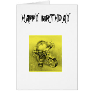 HAPPY BIRTHDAY BIKER CARD