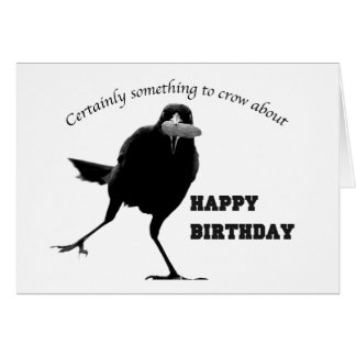 Happy Birthday Bird Card