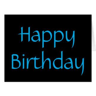 Happy Birthday, Black and aqua card