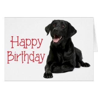 Happy Birthday Black Labrador Puppy Dog - Verse Card